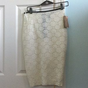 Cream Francesca's Pencil Skirt